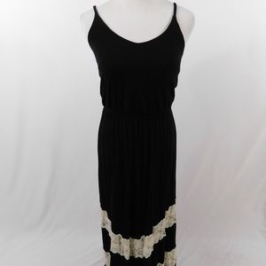 Urban Outfitters Black Maxi Lace Dress
